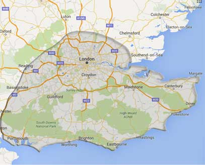 Remapping in Kent Sussex London Surrey