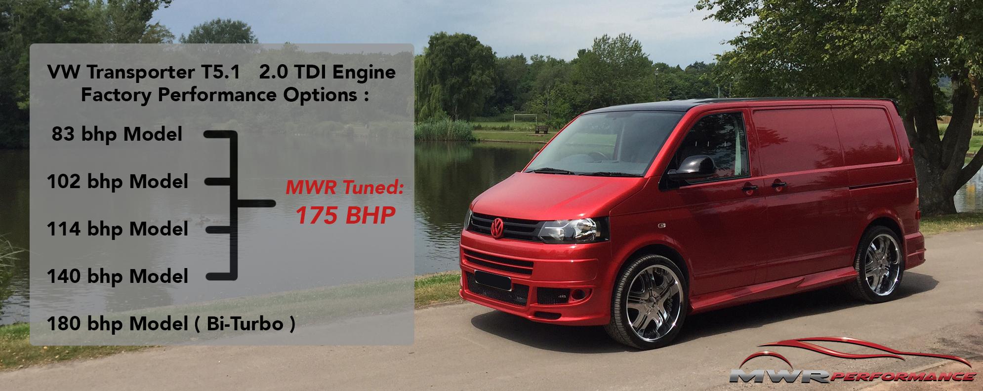 VW T5 T5.1 Engine Remap 83 102 114 140